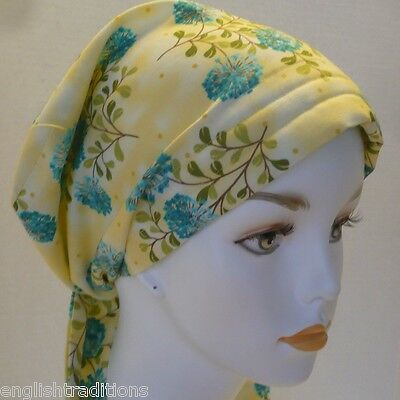 Summer Yellow Cancer Hat Alopecia Hair loss Scarves Turban Head Wrap Head Cover