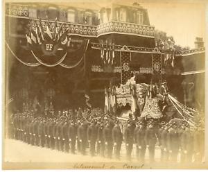Paris-enterrement-du-president-Carnot-Vintage-albumen-print-Tirage-albumine