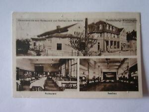 Ansichtskarte Heidelberg Wieblingen Restaurant Saalbau auch innen  (Nr.663)
