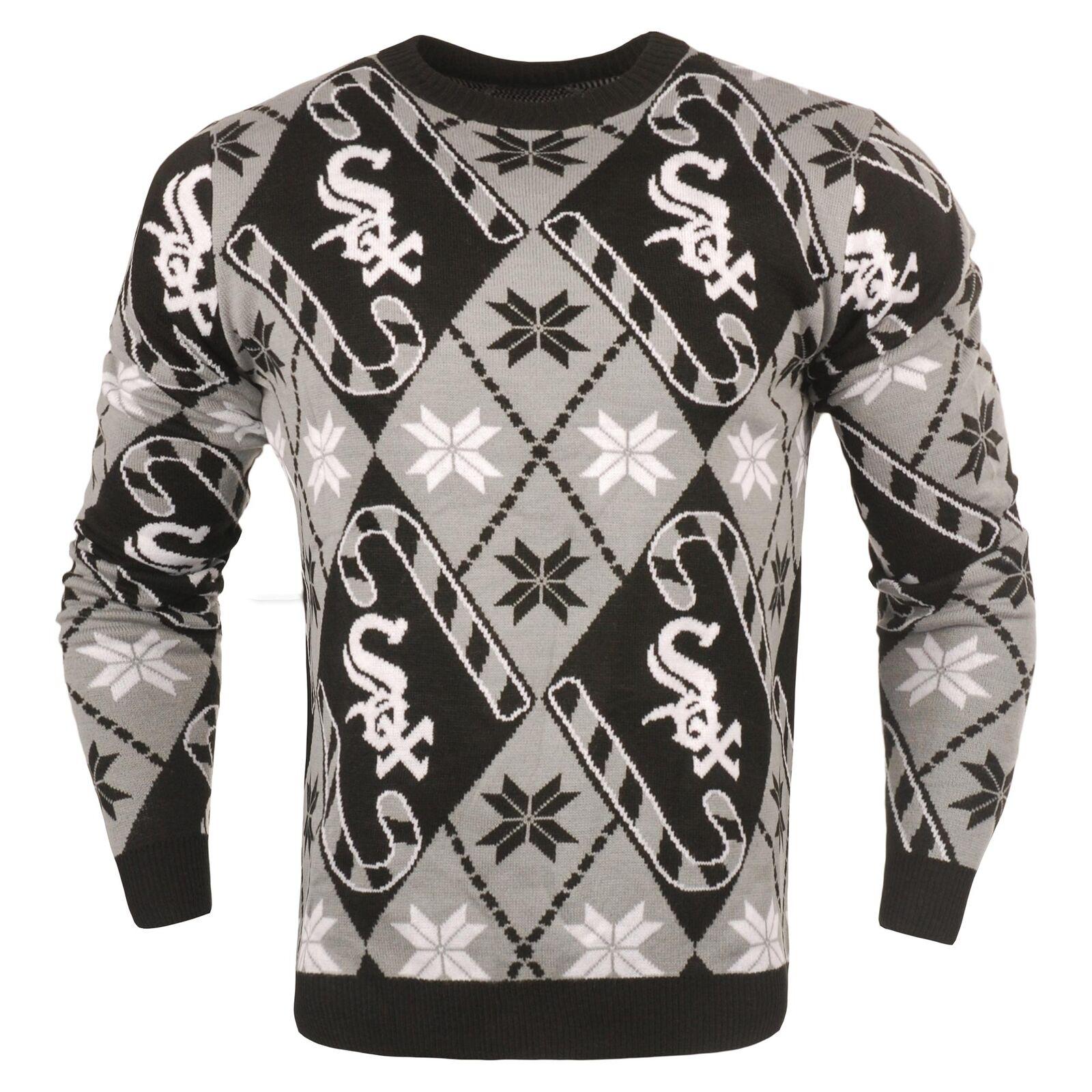 MLB Chicago Weiß Sox Candy Cane Pullover Sport Pulli Sweatshirt Herren Fanatics