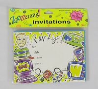 Zoomerang 8 Pack Of Boys Electronic Themed Party Invitations With Stickers