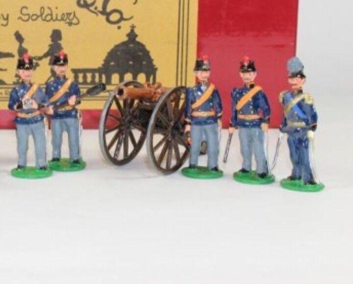 Garibaldi and co toy soldiers. Piedmont artillery set