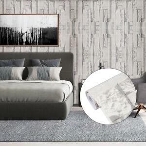 Home Cal Waterproof Self-Adhesive Paper Wallpaper,Grey Brick Pattern,1.48x16.4ft