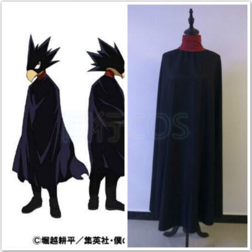 Hot Anime My Hero Academia Fumikage Tokoyami Cosplay Costume Cloak In Stock