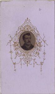 Portrait-d-un-homme-Ferrotypie-Cdv-Vintage-albumine-ca-1870