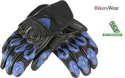Weise Daytona Short Leather Street Bike Motorcycle Summer Glove Black//Red