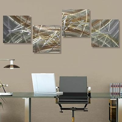 Modern Abstract Metal Wall Art Gold Painting Home Decor - Revitalize - Jon Allen