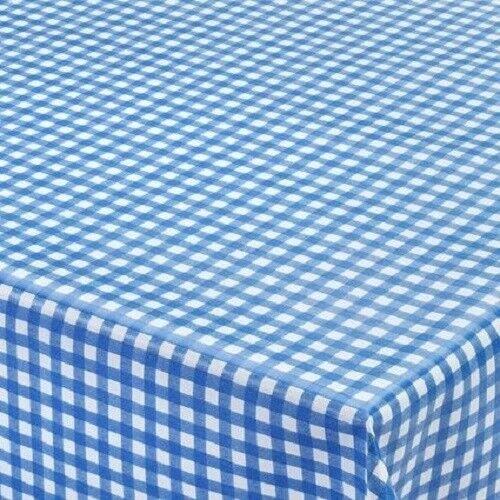 Toile Cirée Nappe à carreaux bleu k150099 rectangulaire environ ovale