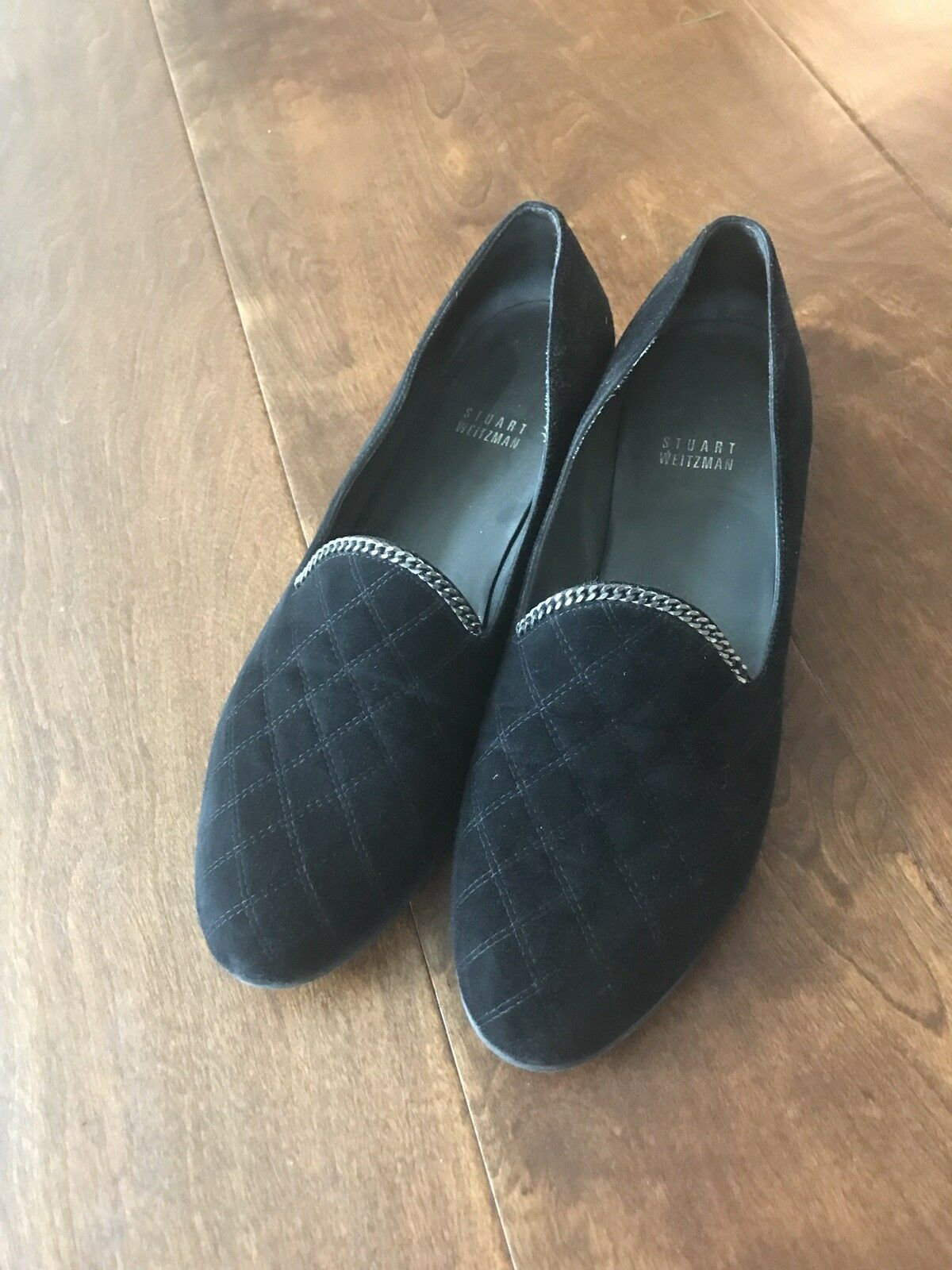 Sconto del 70% STUART WEITZMAN scarpe Low Heels Loafers Loafers Loafers Suede nero Donna  US 9  acquista online oggi