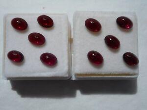 Garnet-cabochon-gemstone-7x5mm-oval