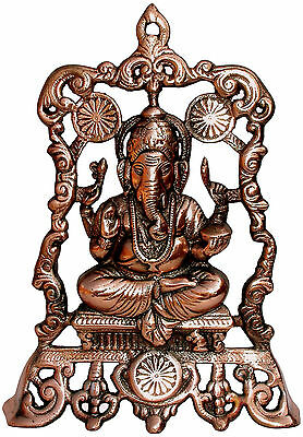 Quadro Sagoma Statua Ganesha Artigianato etnico Hand Made Ganesh decorazione