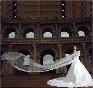 105-034-Spanish-Lace-Cathedral-9-039-Long-Light-Ivory-1T-1-Layer-Mantilla-Wedding-Veil
