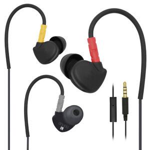 Sport-Earphone-Kabelgebunden-In-Ear-Headset-Mikrofon-Kopfhoerer-Ohrhoerer