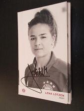67926 Lena Lotzen FC Bayern München Damen original signierte Autogrammkarte