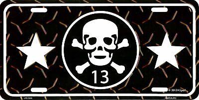 SKULL /& CROSSBONES 13 METAL LICENSE PLATE AUTO TAG EMBOSSED NUMBER PLATE #1050