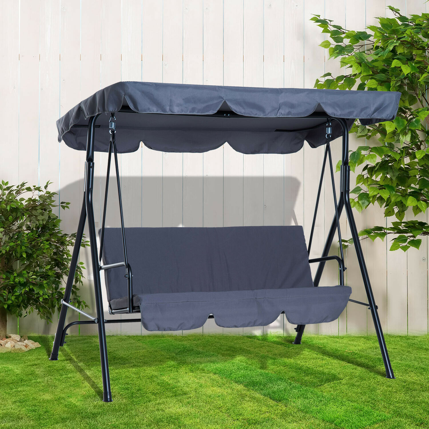 Picture of: Happy Green A13257 Luxury Garden Swing Chair Anthracite For Sale Ebay