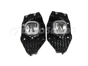 Fog Light with Fog Lamp Bezel Trim RH 2pcs For Ford Super Duty 2011-2016