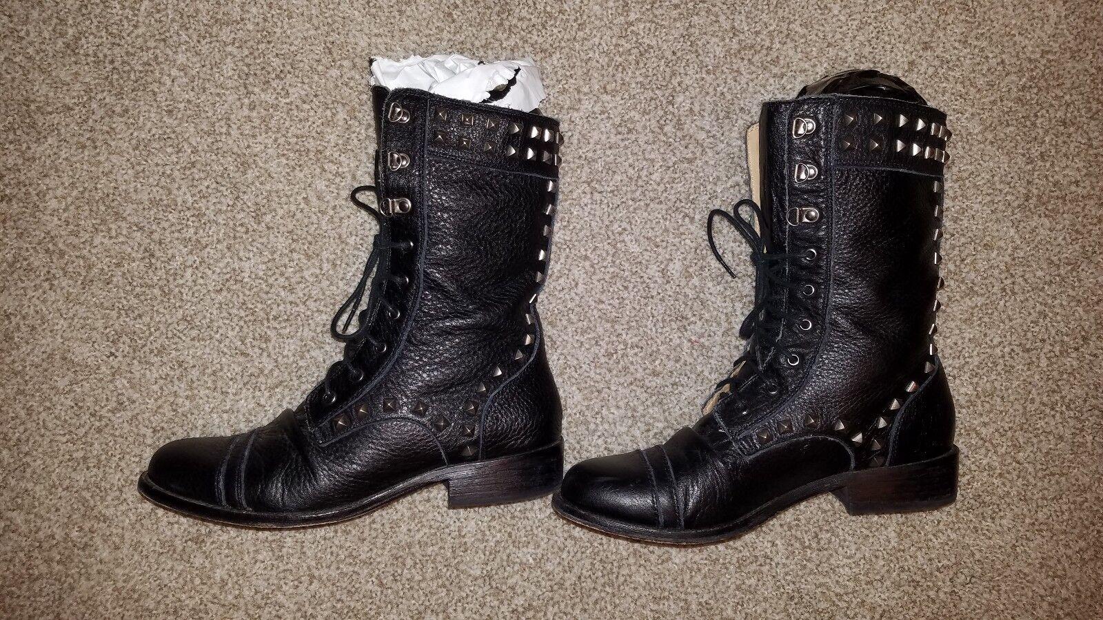 Juicy Couture Chara Tachonado Mitad de Pantorrilla botas, pre-owned Sz Sz Sz 8 Orig  350 896990