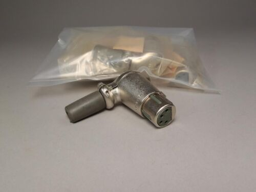 NEW OLD STOCK Cannon XLR-4-15 Right Angle Connectors 4-Pin Female Lot Of 4