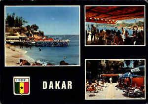 SENEGAL-Postkarte-Afrika-Postcard-DAKAR-1970-Mehrbild-AK-Souvenir-LE-LAGON-View