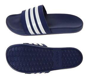 get cheap 48bd6 17384 La foto se está cargando Adidas-Hombres-ADILETTE-cf-3-Rayas-Zapatillas-Azul-