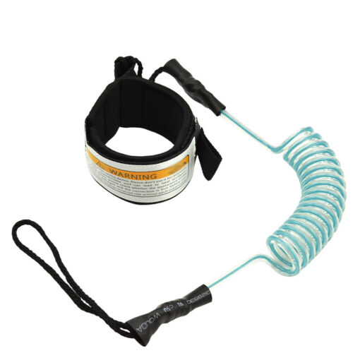 Surfing Belt Strap Canoeing Ankle Leash Rope Coiled Standup Paddle Board Safety