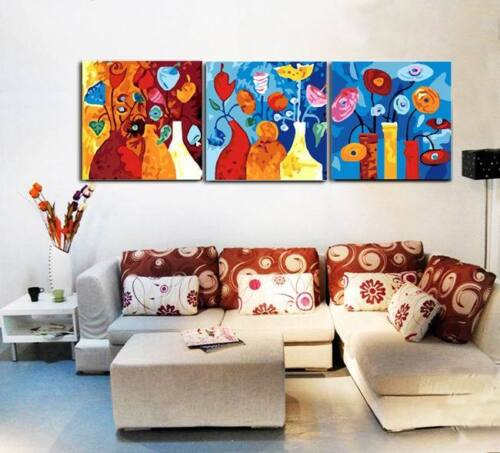 3 Part 40X50cm DIY Acrylic Paint By Number Kit Oil On Canvas Abstract Home Decor