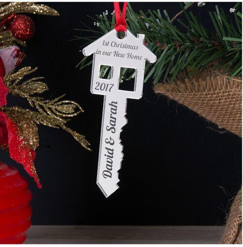 Personnalisé Première 1st Noël dans notre votre nouvelle maison clé Arbre Décoration babiole