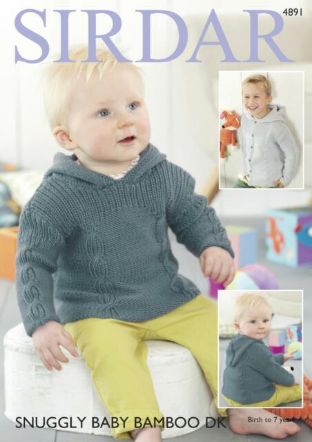 59cb7ff92 Sirdar 4898 Knitting Pattern Baby and Child Sweaters in Supersoft ...