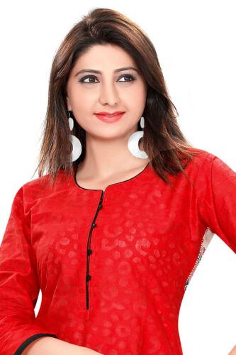 Indian Pakistani Ethnic Cotton Kurti Top Tunic Kurta Dress Party Women 390