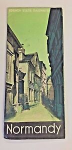 vintage normandy france travel brochure french state railways
