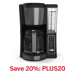 Ninja CE200 12 Cup Programmable Coffee Maker, Black (Certified Refurbished)
