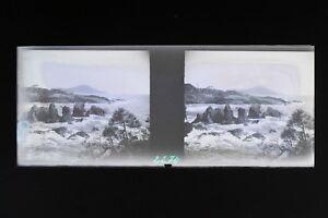 Francia-Paesaggio-Mer-Foto-Stereo-L8n2-Placca-Lente-Vintage-Negativo