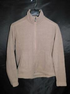 Patagonia-S-Brown-Synchilla-Fleece-Jacket-Womens-Full-Zip-Mock-Neck-Pocket-Small