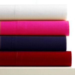 Drap-plat-2-personnes-en-microfibre-rose-vif-150-x-200-cm