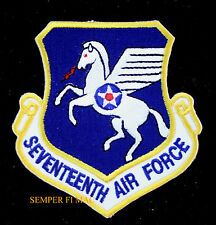 17TH SEVENTEENTH US AIR FORCE HAT PATCH RAMSTEIN AFB GERMANY USAFE WING WOW
