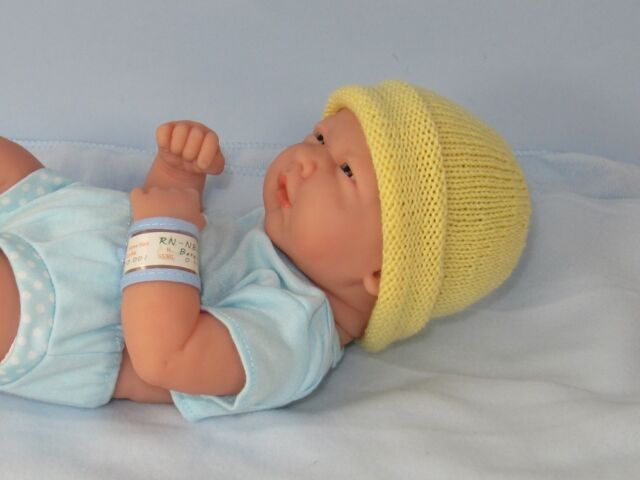 KNITTING PATTERN INSTRUCTIONS- PREEMIES TINY NEWBORN BABY SIMPLE 4PLY BEANIE  HAT 680d1cf644b