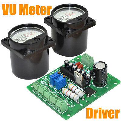 Brand New Panel VU Meter Warm Back Light Recording&Audio Level Amp with driver