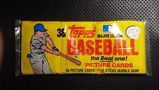 1982 Topps Baseball Cards Grocery Pack - Vintage Topps Wax Pack