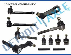 12pc Lower Upper Ball Joint Tie Rods Sway Bar Set 97-02 Ford Expedition 2WD