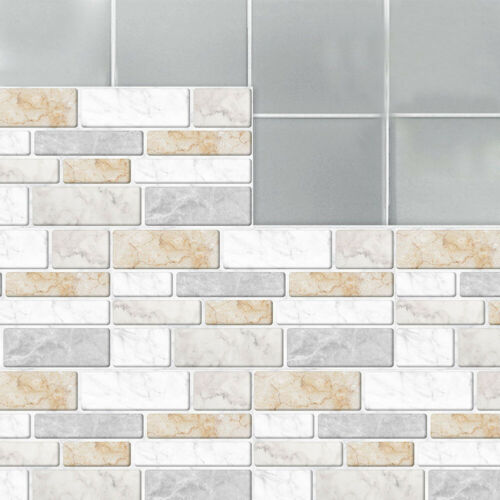 9pc Self-Adhesive Kitchen Wall Tiles Bathroom Mosaic Sticker Peel And Stick