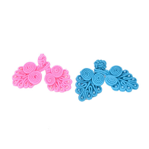 4 Sets Handmade Tradition Chinese Knots Frog Buttons Closures Beaded  Sewing KH