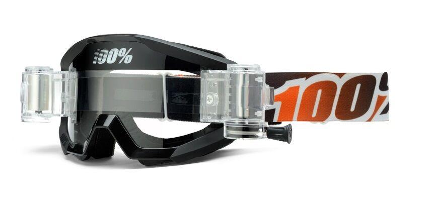 100% STRATA SVS CON ROLL OFF atenuación Mandarina Gafas Mx Motocross Enduro Quad