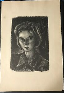 Rare-Barbara-Shermund-self-portrait-print-signed-dated-and-numbered