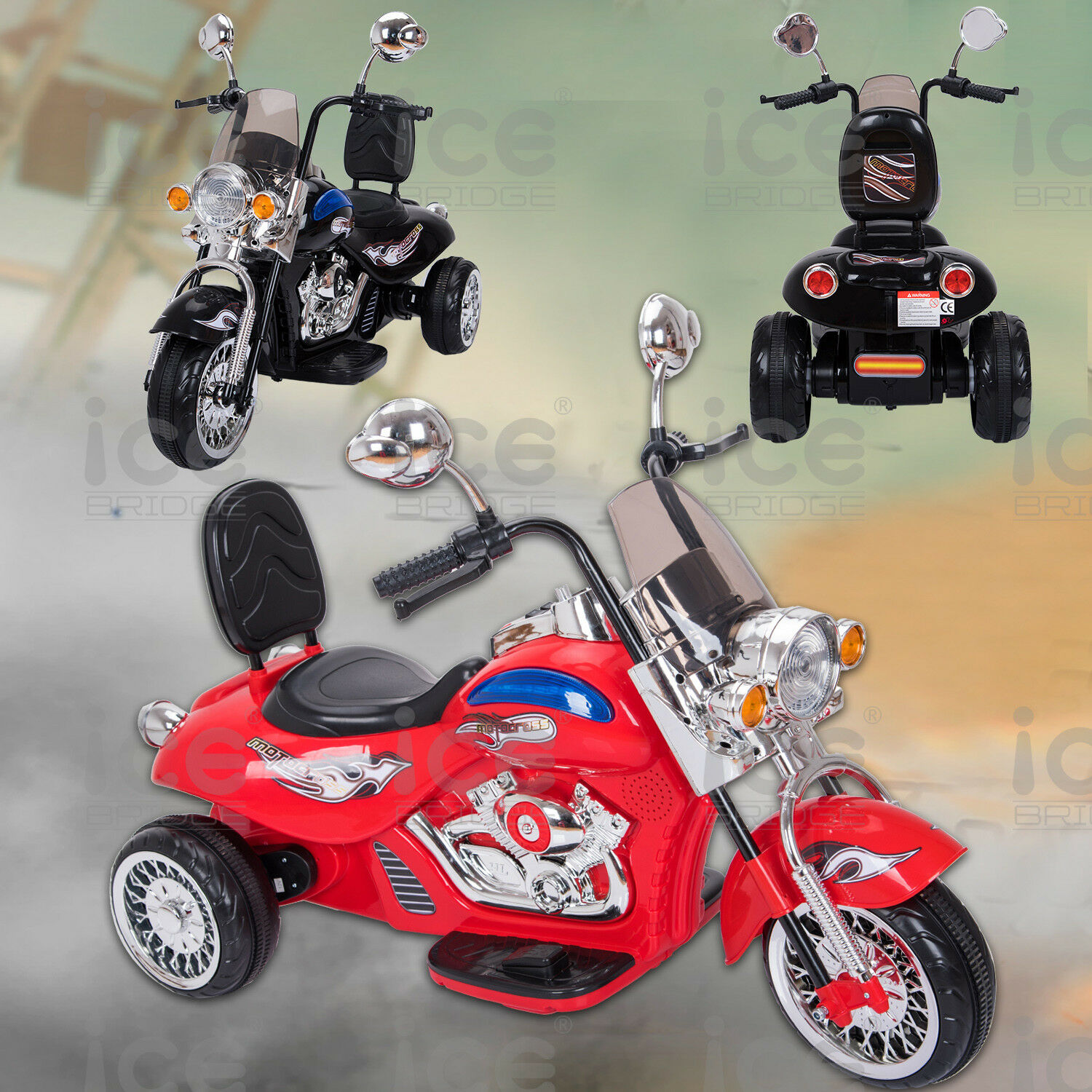 KIDS NEW 12V  MOTORCYCLE QUAD BIKE RIDE ON MOTORBIKE 12V BATTERY CAR BIKE