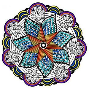 Pinwheel Mandala - Large 20x20 Inch Fuzzy Velvet Coloring Poster ...