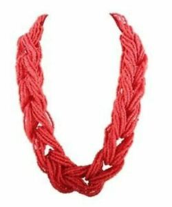 Fannie-Necklace-Chunky-Pink-Red