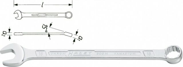 HAZET Ring-Maulschlüssel- Außen-doppel-sechskant Perfil 600NA-15/16
