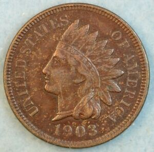 1903-Indian-Head-Cent-Penny-Liberty-Very-Nice-Vintage-Old-Coin-Fast-S-amp-H-34006