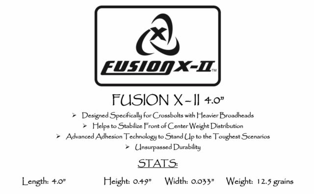 """Fusion X-II Vanes 3.0/"""" Fire Red Pkg36 ***When Accuracy Counts***"""